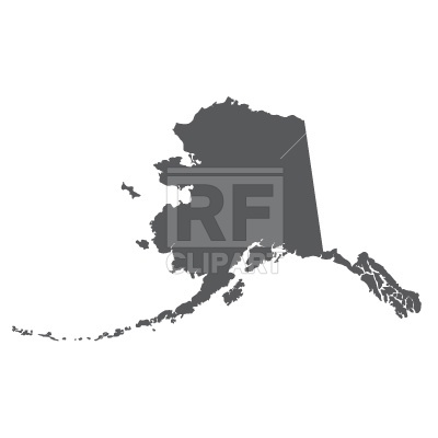 400x400 Alaska Silhouette Vector Image Vector Artwork Of Backgrounds