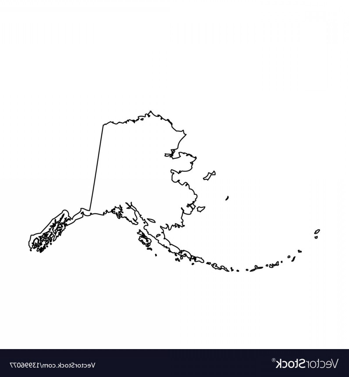 1200x1296 Map Of The Us State Alaska Vector Shopatcloth
