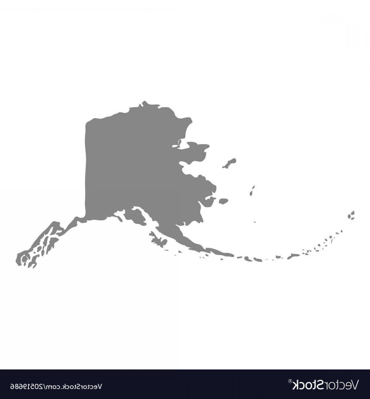 1200x1296 Map Of The Us State Of Alaska Vector Shopatcloth