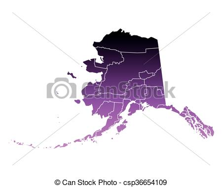 450x380 Map Of Alaska Vector Clipart