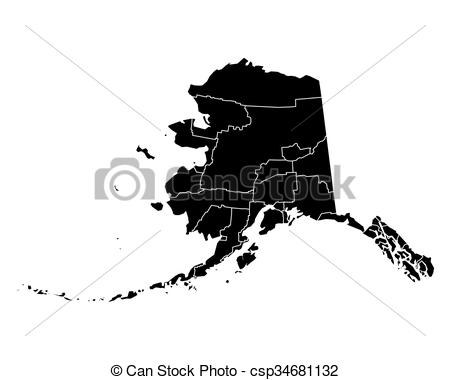 450x380 Map Of Alaska Vectors