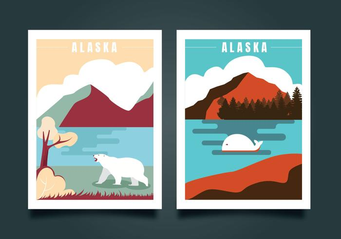 700x490 Postcard From Alaska Vector Design
