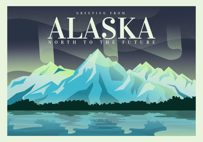 700x490 Postcard From Alaska Vector Illustration Design