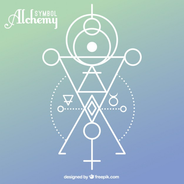 626x626 Alchemy Symbol With Geometric Shapes Vector Free Download