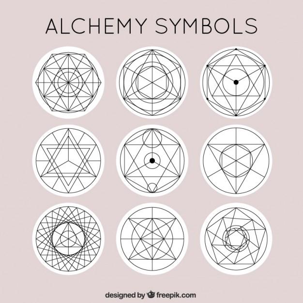626x626 Cute Alchemy Symbols Vector Free Download