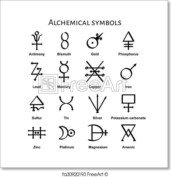 561x581 Free Art Print Of Alchemical Symbols. Collection Of Various