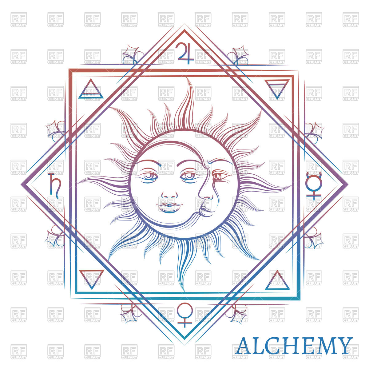 1200x1200 Hand Drawn Alchemy Symbol Vector Image Vector Artwork Of Signs