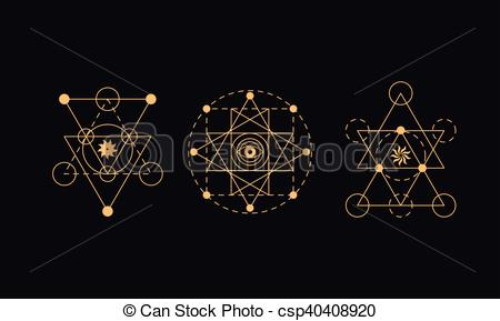 450x289 Sacred Geometry, Alchemy Symbols. Sacred Geometry Symbols Set