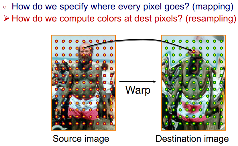 831x510 Image Warping Algorithm With A Specified Vector As Distortion