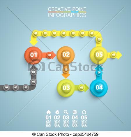 450x470 Point Algorithm Information Art Infographic. Vector Illustration.