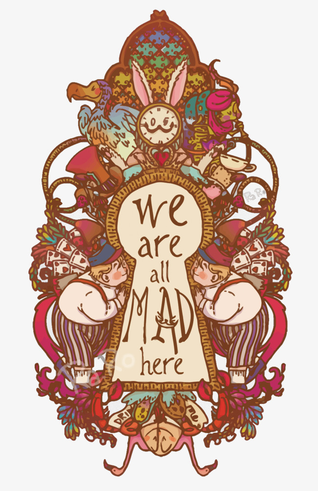 650x1005 Vector Alice In Wonderland Illustration, Fairy Tale, Alice In