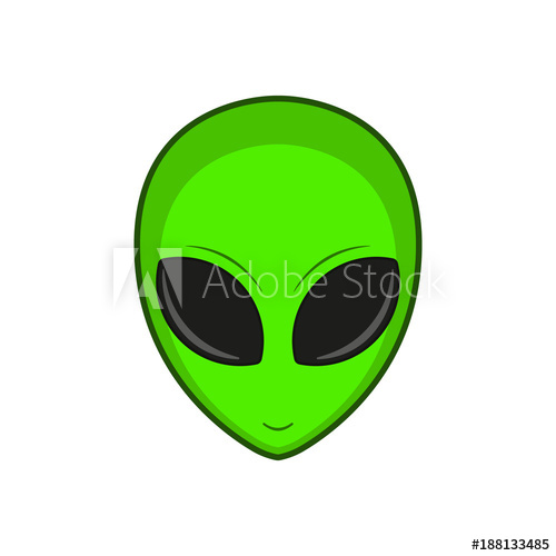 500x500 Alien. Vector Illustration.