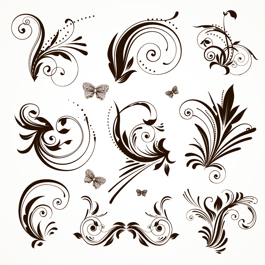 850x850 Practical Lace Pattern Vector Classic Europeanstyle Free Vector