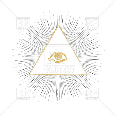 400x400 All Seeing Eye Vector Image Vector Artwork Of Signs, Symbols