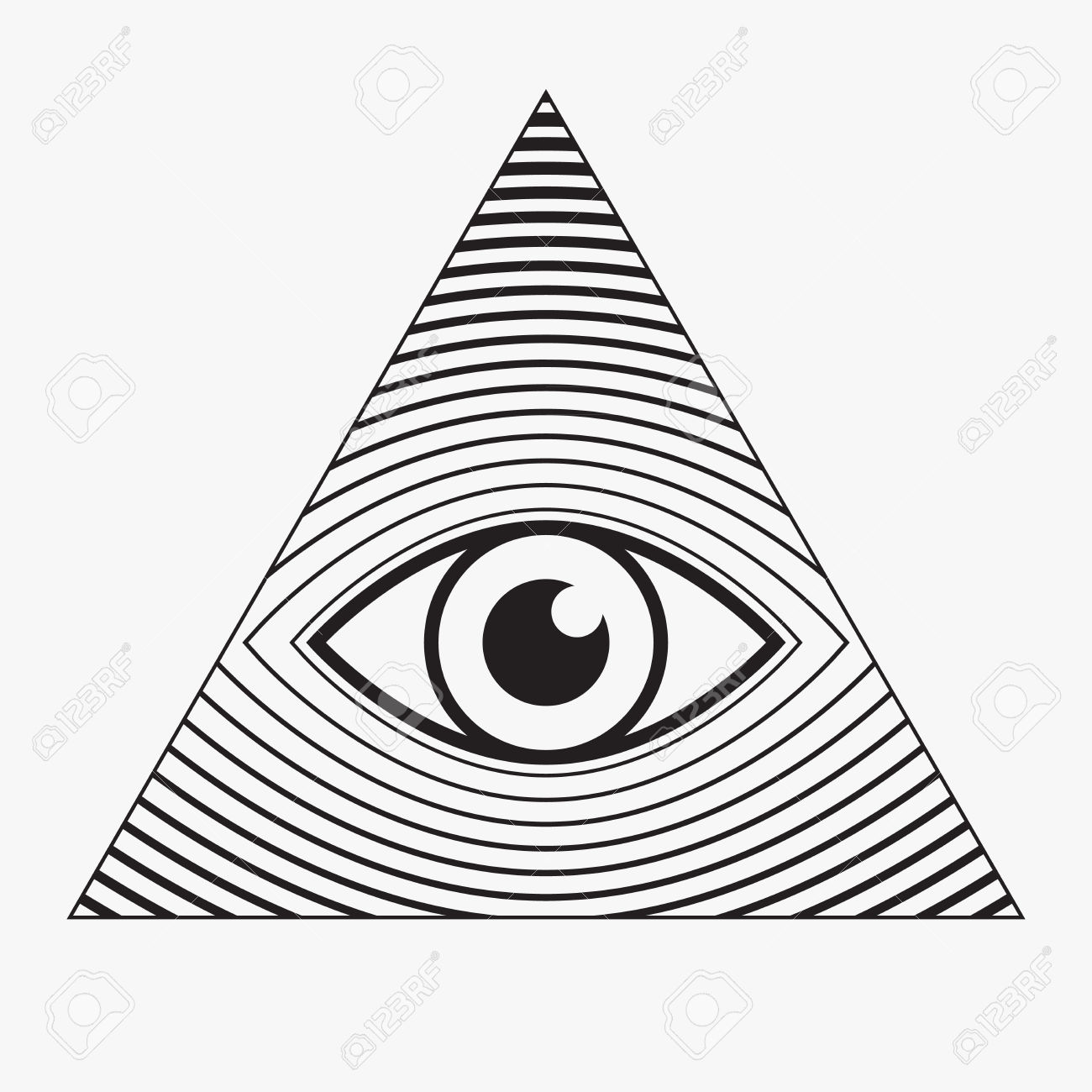 1300x1300 Clipart Black And White Pyramid Eye