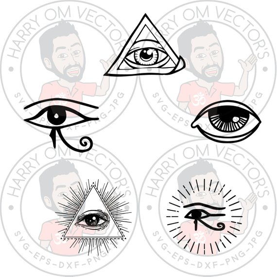 570x570 Eye Vector Svg Dxf For Silhouette Cameo Or Cricut Esoteric Etsy