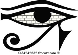 274x194 Free Art Print Of All Seeing Eye Symbol, Vector Illustration