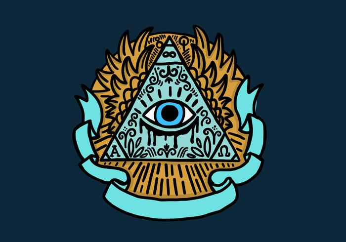 700x490 All Seeing Eye Free Vector Art