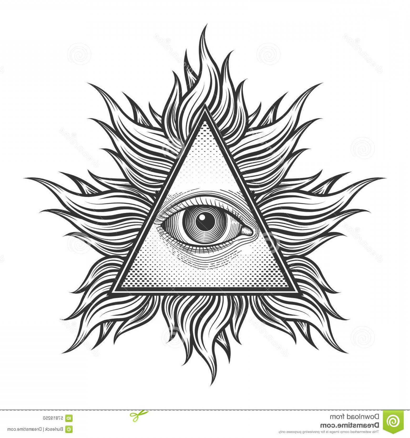 1560x1668 All Seeing Eye Pyramid Symbol In The Engraving Illustration Arenawp