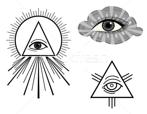 600x466 The All Seeing Eye Vector Illustration Andreea Chiper (Eireann