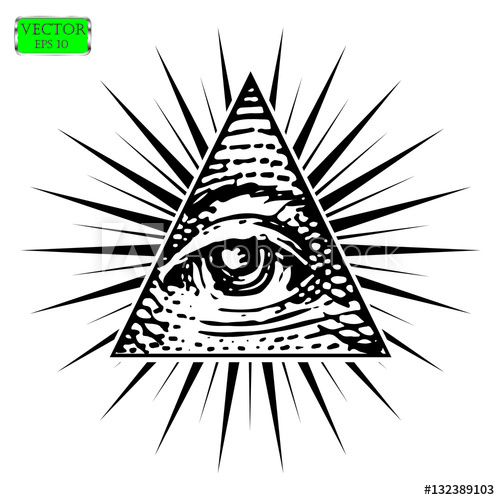 500x500 All Seeing Eye Vector