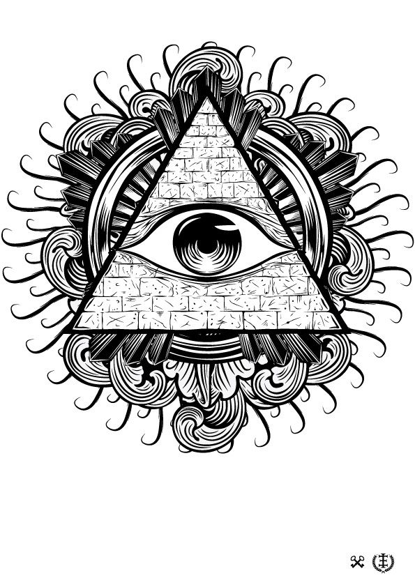 595x842 All Seeing Eye Vector Illustration Tattoos Tattoo