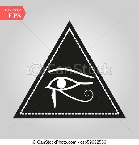 450x470 All Seeing Eye, Magical Element, Eye, Triangle, Tattoo Design