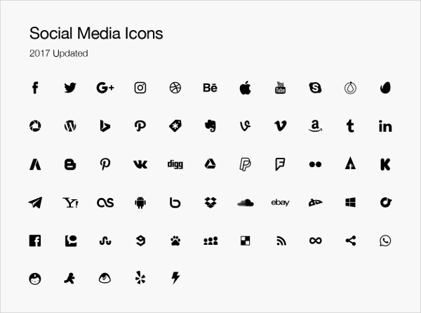All Social Media Icons Vector