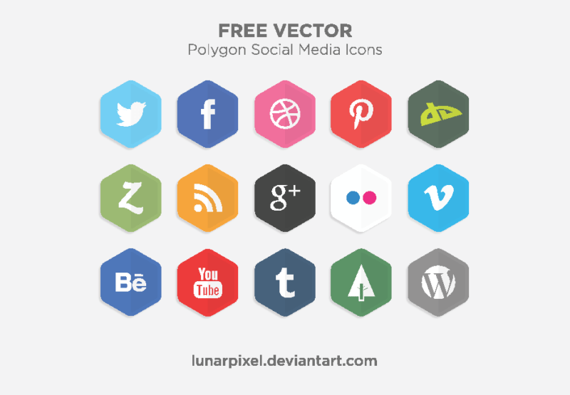 800x555 54 Beautiful [Free!] Social Media Icon Sets For Your Website