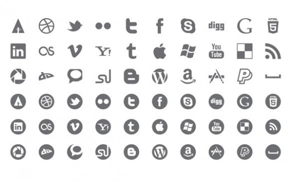 600x372 60 Picons Social Media Icons Vector Pack