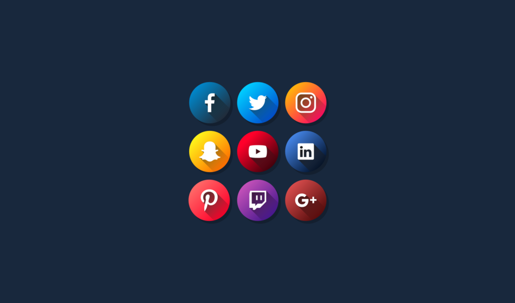 1024x602 Flat Social Media Icons Free Vector Pack For 2018