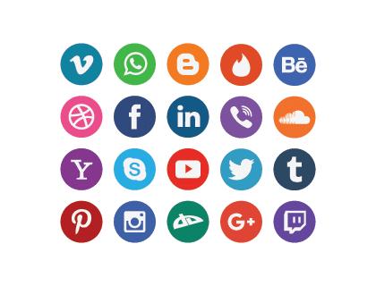 420x320 20 Free Flat Social Media Icons Vector Logopik