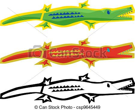 450x367 Abstract Alligator. Cute Abstract Alligator With Mouth Open Over