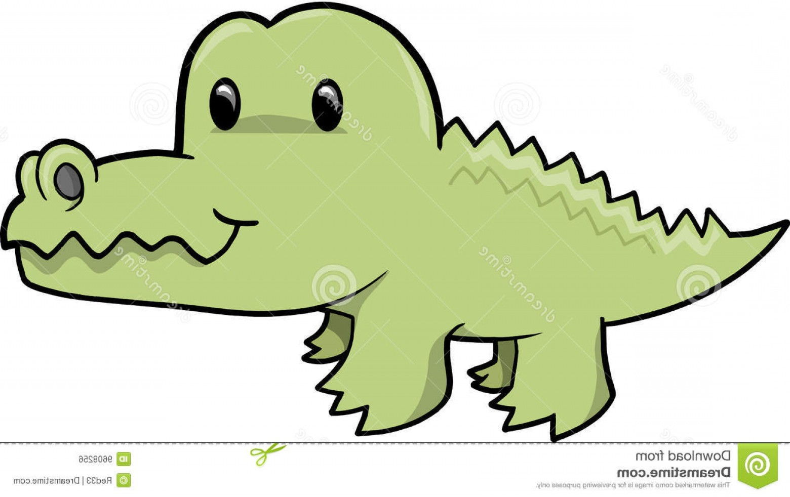1560x982 Royalty Free Stock Image Cute Alligator Vector Illustration Image