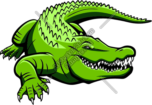 500x345 Alligator Clipart Green Gator Graphic Clipart And Vectorart Sports