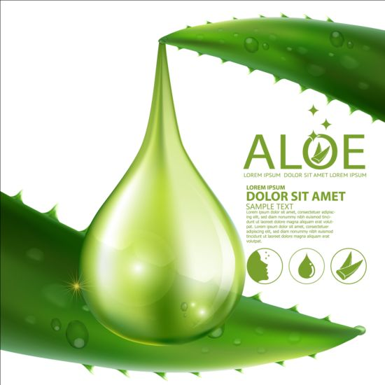 550x550 Aloe Vera Collagen Background Vector 02 Free Download