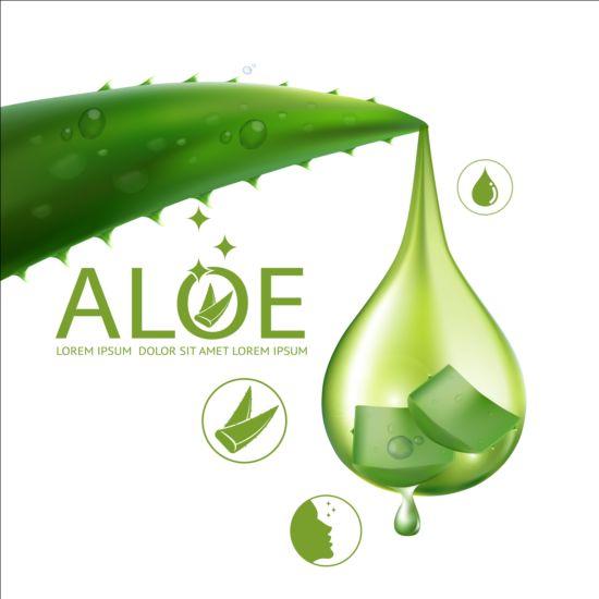 550x550 Aloe Vera Collagen Background Vector 03 Free Download