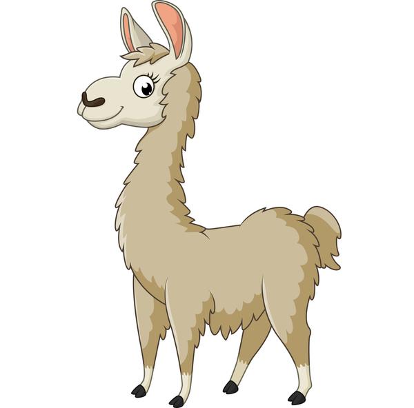 600x592 Alpaca Cute Cartoon Vector Free Download