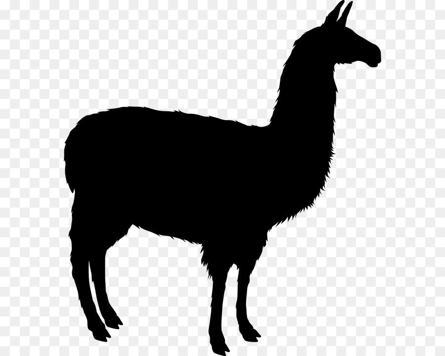 900x720 Llama Alpaca Silhouette Clip Art