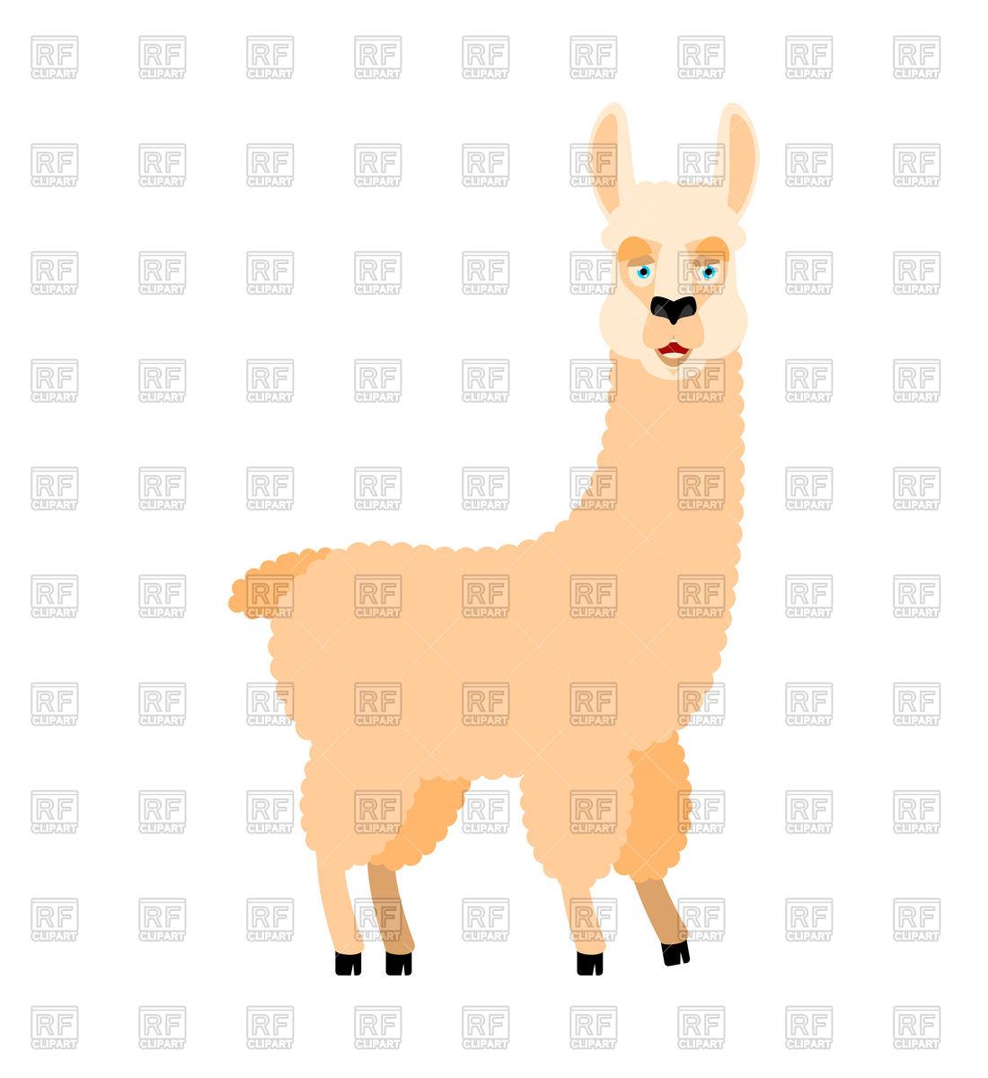 1100x1200 Llama Alpaca Vector Image Vector Artwork Of Plants And Animals