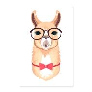 190x190 Alpaca Hipster Vector Illustration By Yakoazon Poster Spreadshirt