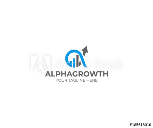 500x417 Alpha And Growth Symbol Logo Template. Graph Chart And Alfa Vector