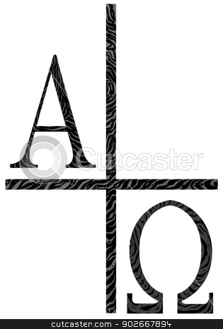 315x464 Alpha And Omega Symbol. Stock Vector