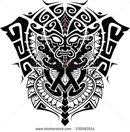 450x456 Tribal God Mask With Alpha And Omega Symbol Vector Illustration