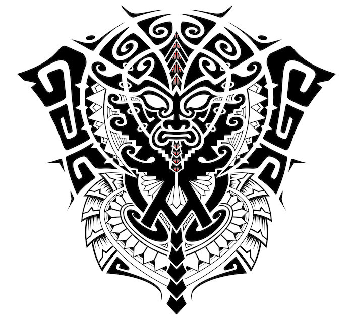700x635 Tribal God With Alpha And Omega Symbol Vector Illustration Wall