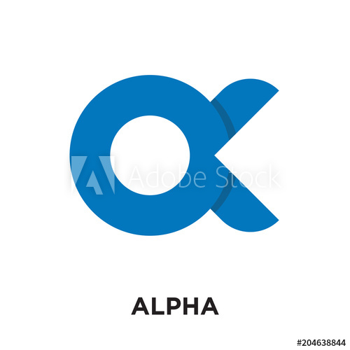 500x500 Logo Alpha Isolated On White Background , Colorful Vector Icon