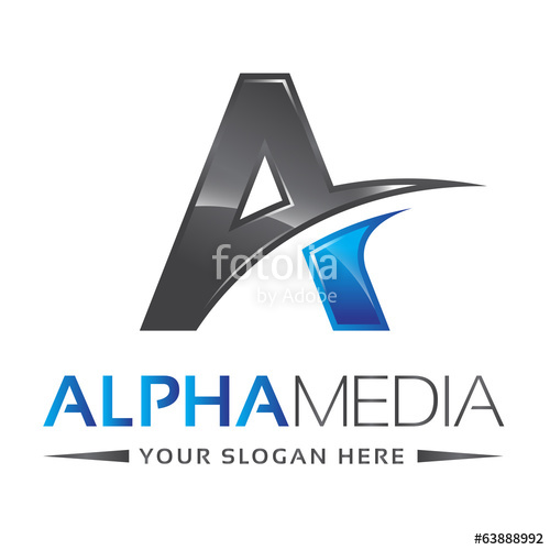 500x500 Letter A Logo Alpha Blue Stock Image And Royalty Free Vector
