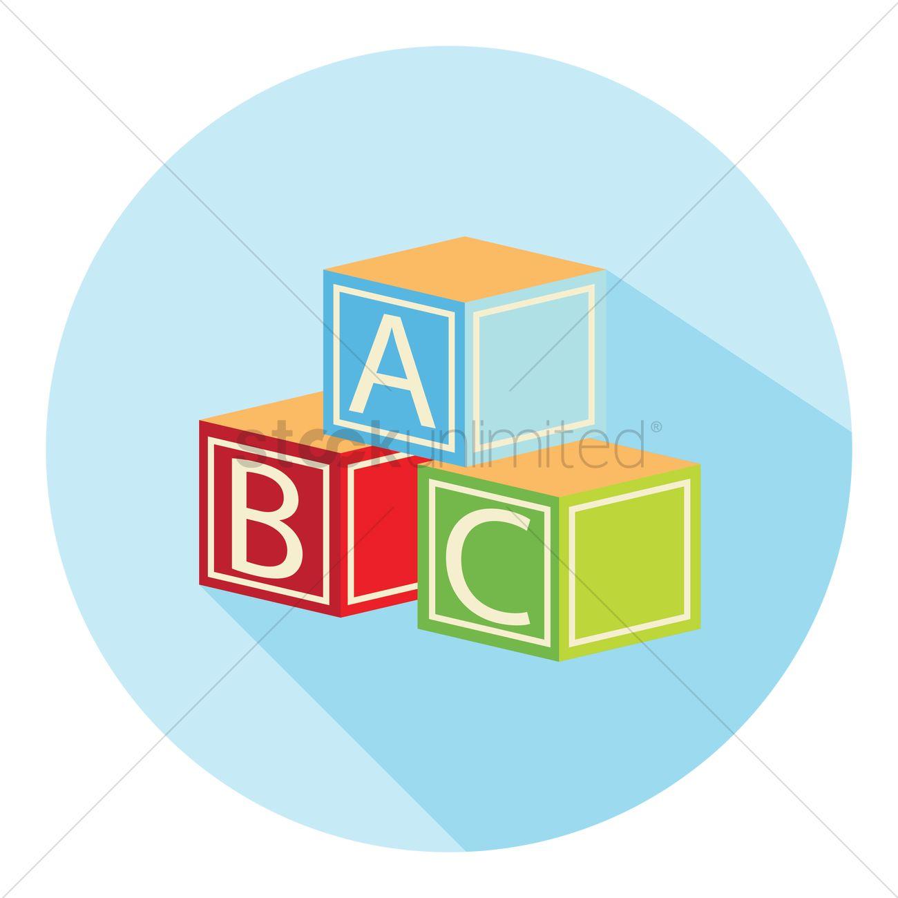1300x1300 Alphabet Blocks Vector Image