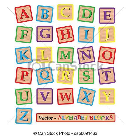 450x470 Blocks. Image Of Alphabet Blocks Isolated On A White Background.