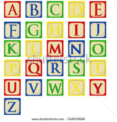450x470 Letter P In Building Blocks Graphic Stock